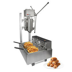 Churros Machine   Manual Churro Maker With Working Stand   Deep Fryer   5l