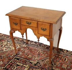 English Queen Anne Style Tiger Maple Dressing Table 19th C.