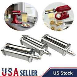 Stainless Steel Pasta Roller Cutter Attachment For Kitchenaid Ksmpra Stand Mixer