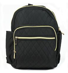 Black Quilted Women Girl Backpack Purse Bag $14.49