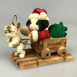 Cow Figurine Marys Moo Moos Christmas Holiday Xmas Special Deerlivery Dog Puppy