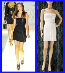 S/s 2012 Look 35 New Versace One Shoulder White Studded Dress 38 - 2