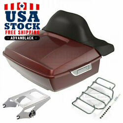 Stiletto Red King Tour Pack Pak For Harley Street Road Electra Glide 97+