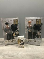 🔥lot Of 2 Harry Potter Wizarding World Ron Weasley And Harry Potter Dolls And Wand