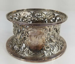 Antique English Sterling Silver Dish Plate Stand Hunting Scene Williams Ltd.