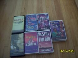 Lot Of 7 Joyce Meyer Christian Messages Audio Cassette Tapes