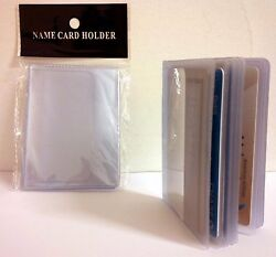 LOT OF 2 16-PAGE CREDIT CARD HOLDER PLASTIC CLEAR WALLET PHOTO INSERTS 17914  $5.99