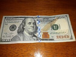 2009 A 100 Dollar Bill Star Note In Vary Good Condition.