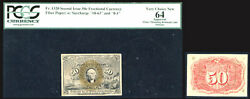 1863-67 5c Fractional Currency - Second Issuepcgs 64-rare Pop 6