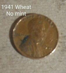 1941 Wheat Penny With No Mint