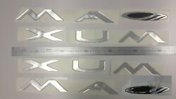 Maxum Boat Emblems 40 Chrome + Free Fast Delivery Dhl Expres - Raised Decal Set