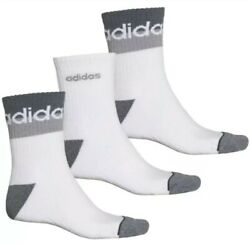 3 Pair Adidas Cushioned No Show Socks Men's Shoe Size 6-12 Ankle Athletic  $14.99