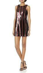 Milly Womenand039s Angular Mini Dress Size 8 Color Red/black New With Tag