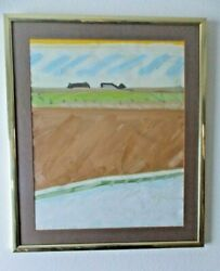 John Macwhinnie Original Signed Oil Painting Landscape Out My Window 1971