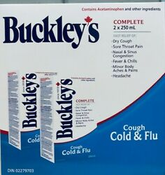 50 Buckley's Complete Cough Cold And Flu Syrup 250ml From Canada