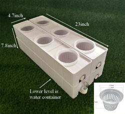 Hydroponic Site Grow Kit 6 Holes Plant System Grow Kit With Water Container