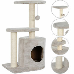 28.7quot; Cat Tree Activity Tower Pet Kitty Furniture with Cave Scratching Posts