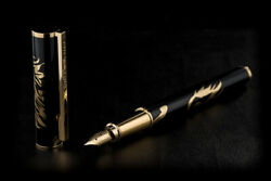 St Dupont Neoclassique Cheval Horse Fountain Pen. M. Lacquer And 18k Yg. 141856