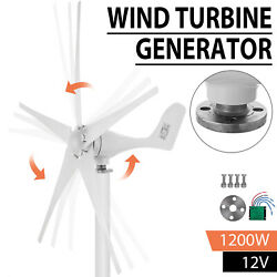 1200W Wind Turbine Generator Unit DC 12V Charger Controller Home Power Energy $131.50