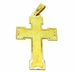 Crucifix Cross Pendant Vintage Years' 80 In Gold Solid 18 Carats