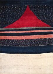 Hand-knotted Rug Carpet 5'6x7'7, Gabeh Mint Condition