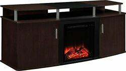 Ameriwood Home Carson Electric Fireplace Tv Console For Tvs Up To 70, cherry