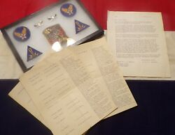 Infamous Wwii E. T. O. Historian Col. S L A Marshall Letter Service Timeline