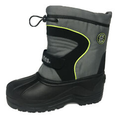 Totes Thermolite Grey Black Green Winter Snow Boots Kids Youth Size: 4 amp; 5 $20.24