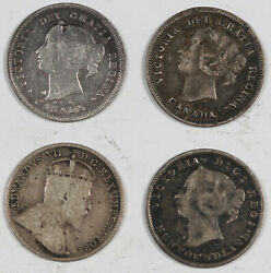 Canada And Newfoundland 1885-1943 5 Cent And 10 Cent Silver 15 Coin Collection