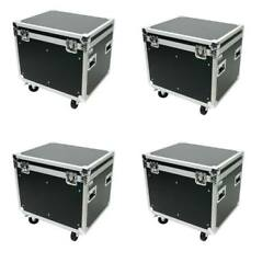 4 Utility Road Case 30 Truck Pack Osp Ata Road Case Wi/wheels And Rubber Lined