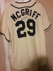 2000 Fred Mcgriff Signed Game Used Tbtc St. Paul Saints Tampa Rays Jersey Coa