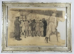 Antique Vintage Wwi Wwii Era Political Cartoon Nylons Unsigned New York City War