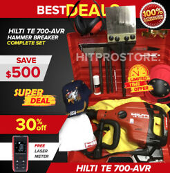 Hilti Te 700 Avr Breaker, Preowned, Free Laser Meter, Chisels Extras, Fast Ship
