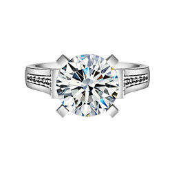 18K Gold Over Sterling Silver Solitaire Cubic Zirconia With Accents Wedding Ring
