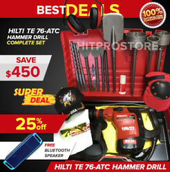 Hilti Te 76 Hammer Drill Preowned Free Speaker Chisels Fast Ship