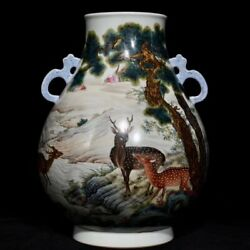 10.4and039and039 China Antique Vase Five-colored Porcelain Vase Old Pottery Vase Xzs