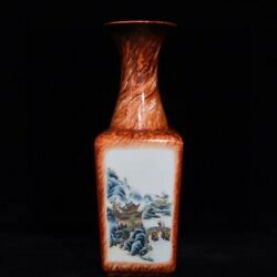 12.6and039and039 China Antique Vase Five-colored Porcelain Vase Old Pottery Vase Xzs