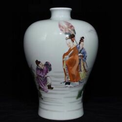 10.8and039and039 China Antique Vase Five-colored Porcelain Vase Old Pottery Vase Xzs