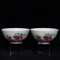 4.6and039and039 China Antique Bowl Five-colored Porcelain Bowl Old Pottery Bowl Xzs