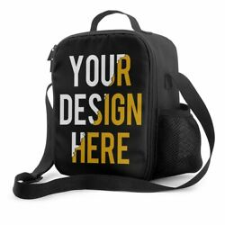 Personalized Custom Lunch Bag Insulated Lunch Tote Bag for Men Women Kids Adult $22.68