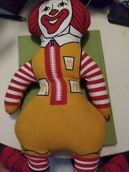 Vintage 1970and039s Ronald Mcdonald Pillow Doll 16 Tall. Great Condition