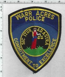 Warr Acres Police Oklahoma 4th Issue Uniform Take-off Shoulder Patch