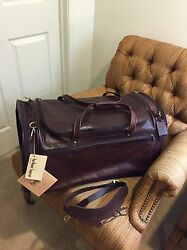 """Hartmann 25"""" 2XL Belting Leather Rare Outing Duffel Carry On Gym Bag Luggage NOS"""