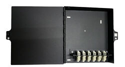 12 Fiber Wall Mount W/ 6 Lc/upc Duplex Adapter Patch Only Multimode 62.5/125 Om1
