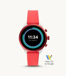 Fossil Sport Touchscreen Heart Rate Gps Red Silicone 41mm Smartwatch Ftw6027
