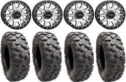 System 3 Sb-3 Machined 14 Wheels 28 Roctane Tires Can-am Defender