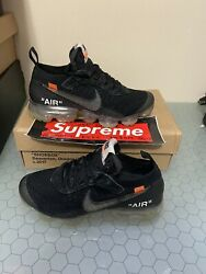 Nike X Off White Vapormax 2.0 Part Two Black Size 4 Pre Owned Good Condition