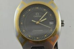 Omega Seamaster Polaris Men's Watch 1 1/4in Vintage With Leather Band Quartz