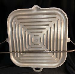 Vintage Silver Seal Aluminum Stove Griddle Grill Pan With Handle
