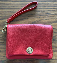 Charming Charlie Red Clutch Purse $15.00